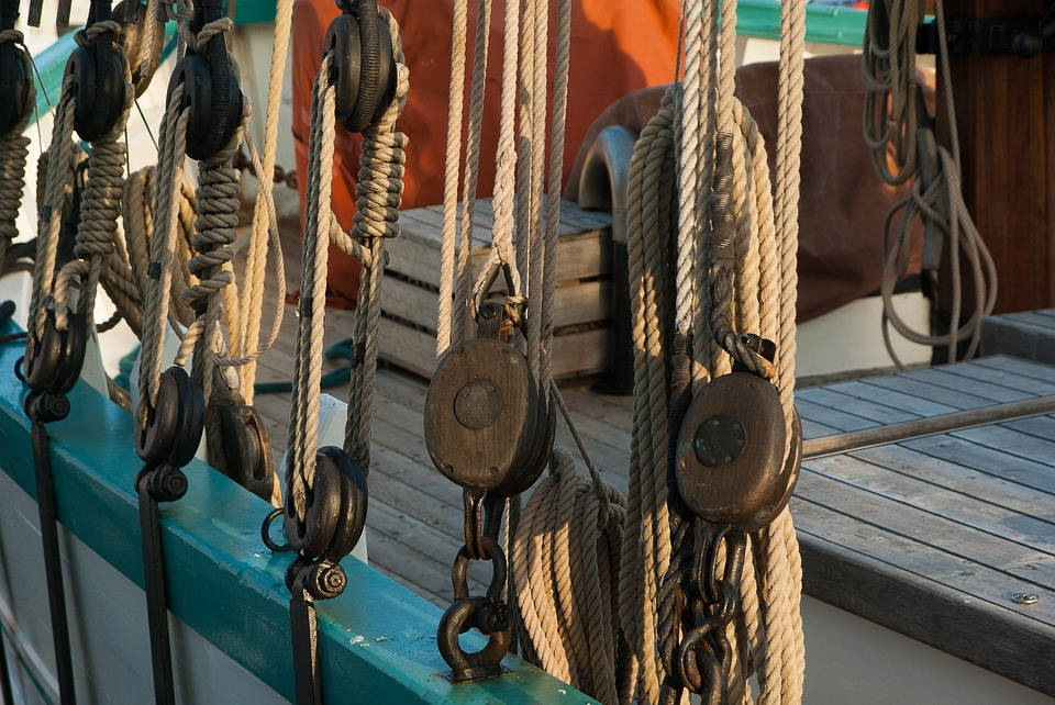 Sailboat, Boat, Rope, Pulleys