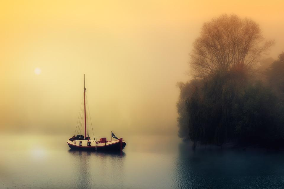 Boat, Sailing Boat, Rest, Calm, Silent, Water