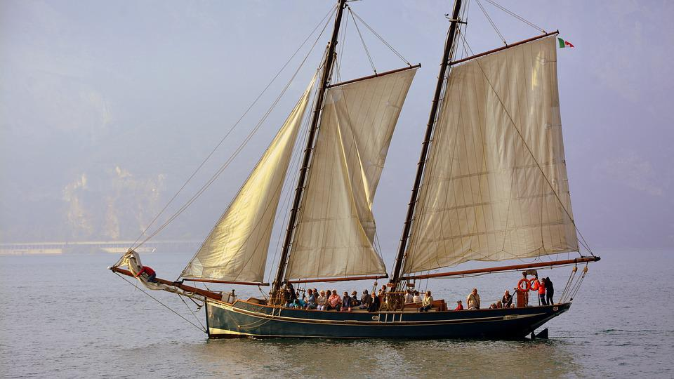 Sailing Ship, Lake, Garda, Sails, Boat, Italy