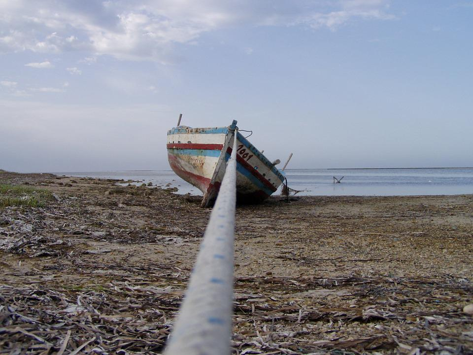 Boat, Beach, Sea, Horizon, Maritime