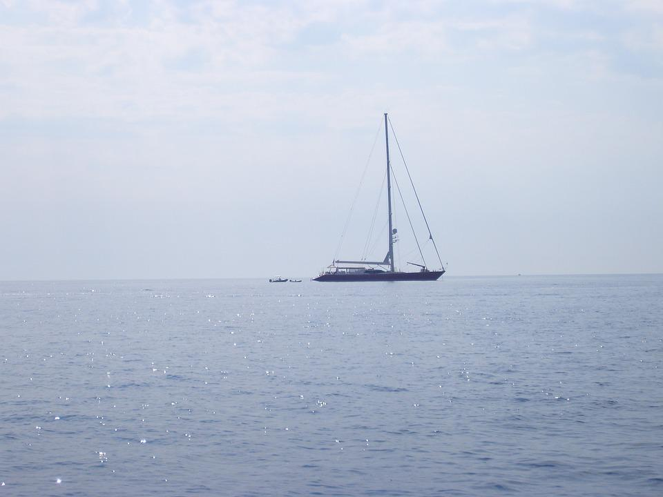 Boat, Sea, Strait Of Messina