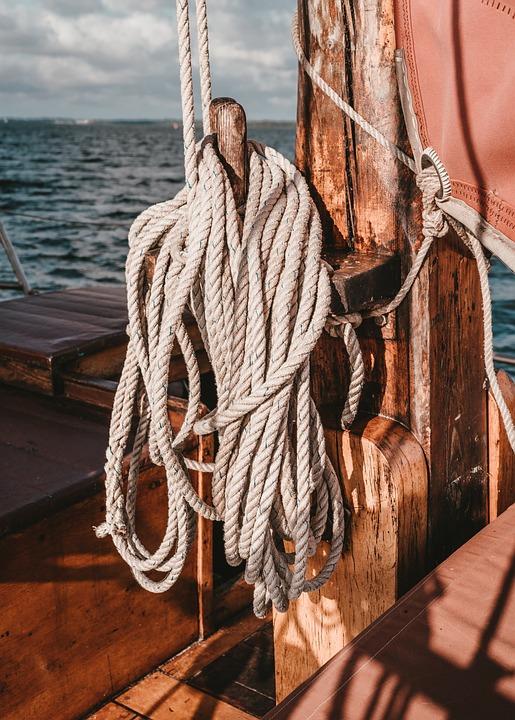Sailing Vessel, Mast, Ropes, Thaw, Ship, Rope, Boat