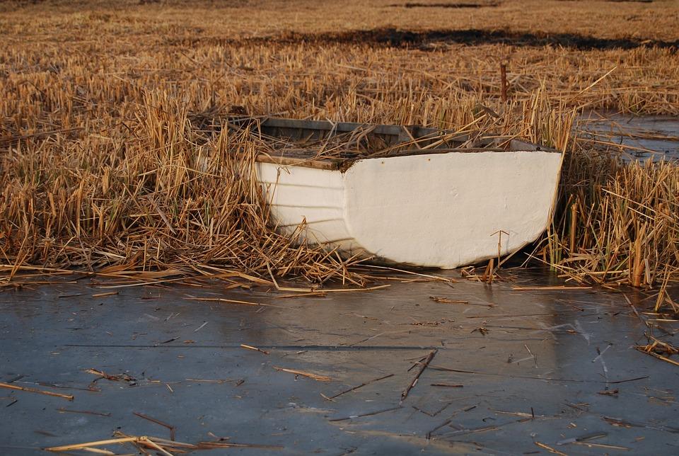 Ship, Lake Balaton, Froze, Boat, Part, Water