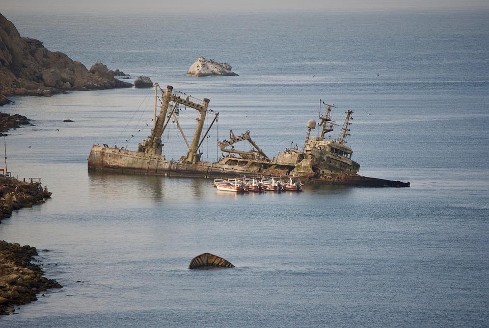 Ship, Wreck, Ship Wreck, Boat, Shipwreck, Sea, Ocean