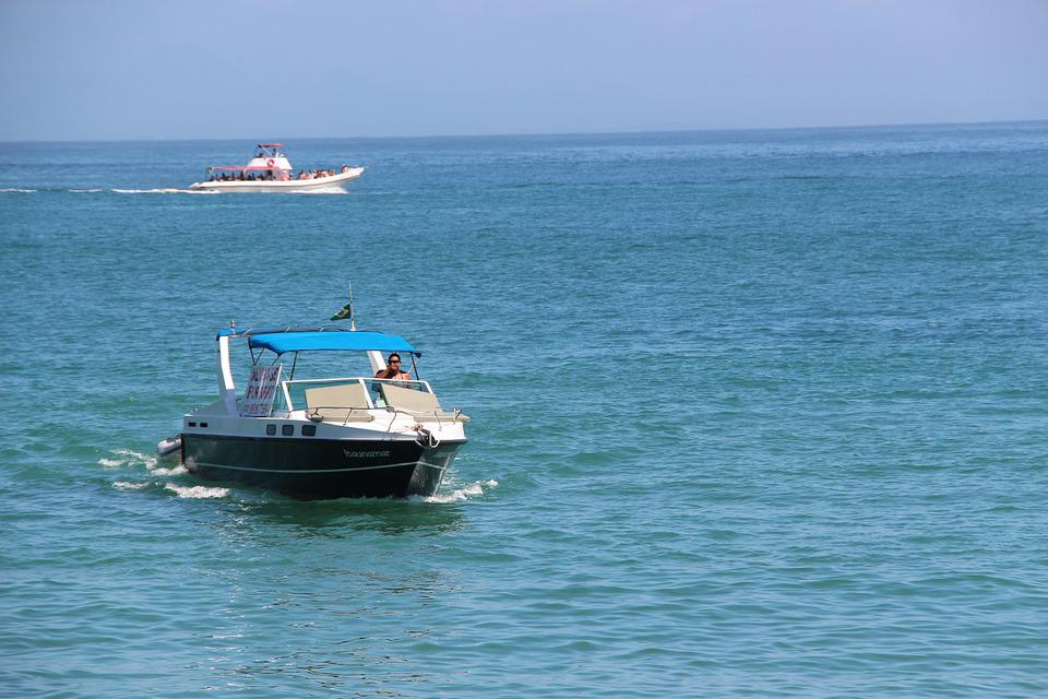 Beach, Ocean, Boat, Speedboat
