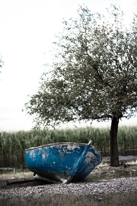 Lake, Boat, Blue, Landscape, Nature, Peace, Summer