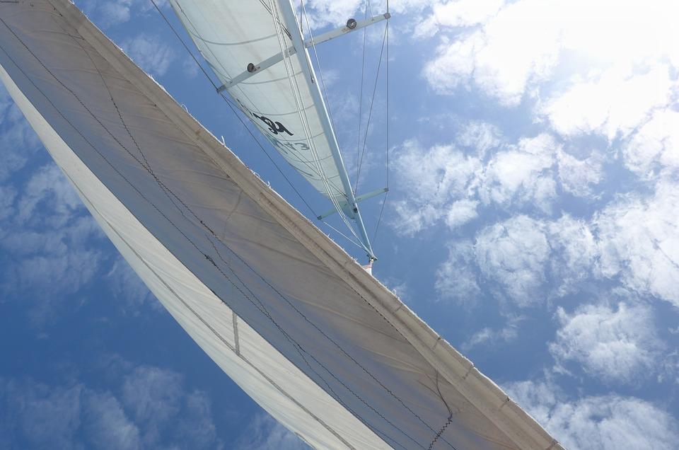 Sails, Sky, Sea, Boat, Clouds, Summer, Ocean, Catamaran