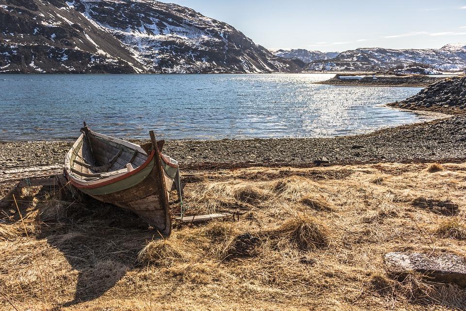 Boat, Ocean, Fjord, Shorline, The Water's Edge