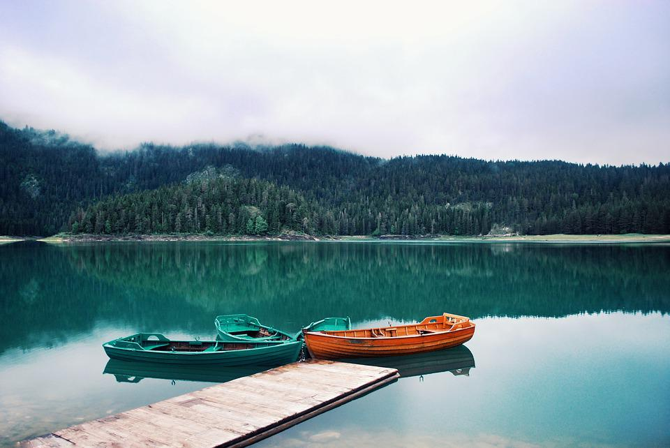 Water, Travel, Lake, Boat, Forest, Fog, Vacation