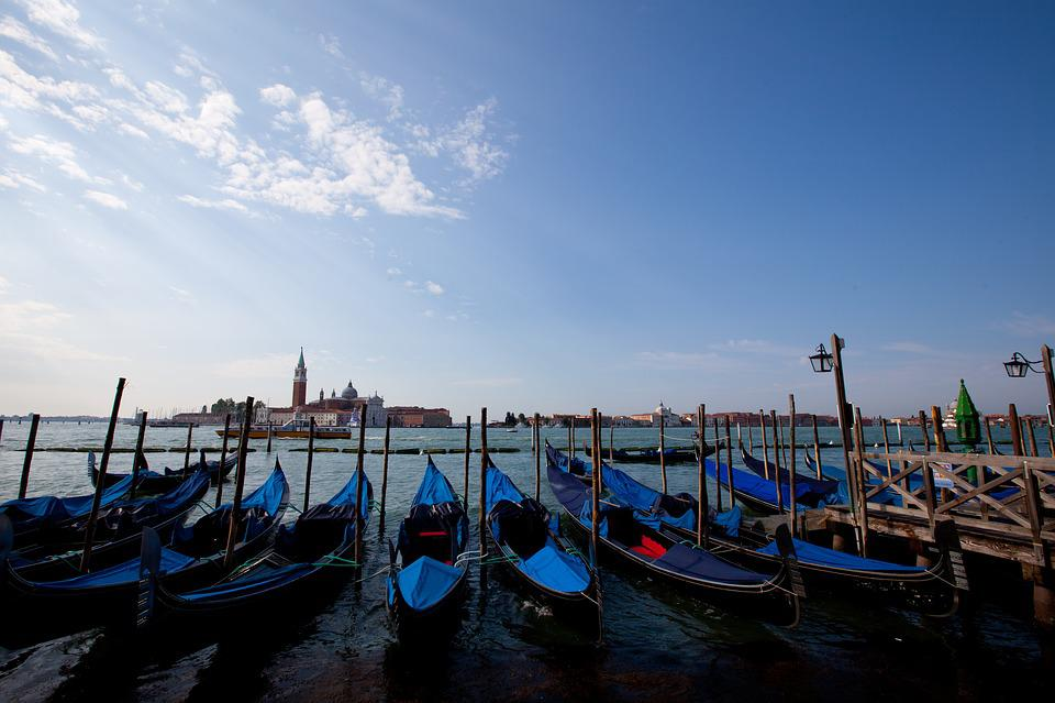 Gondola, Venice, Italy, Europe, Water, Boat, Venetian