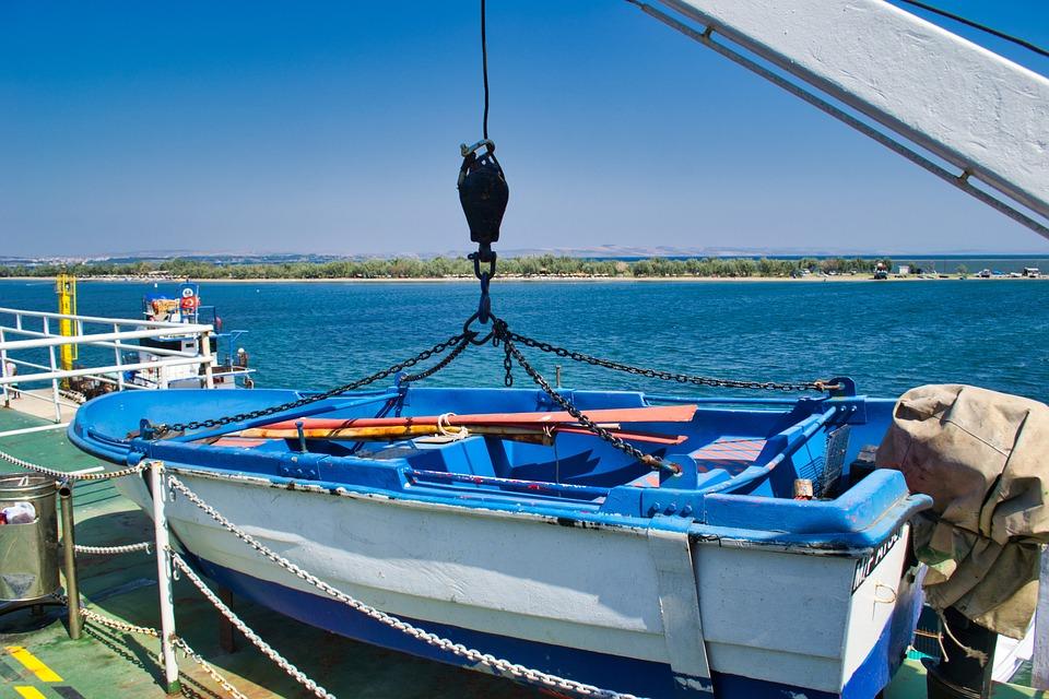 Boat, Ship, Crane, Chains, Marine, Water, Sky, Maritime