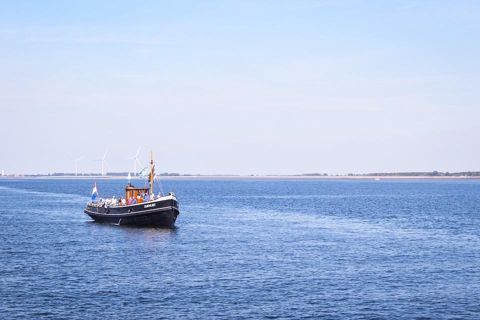 Zealand, Water, Boat, Westerschelde, Boating, Air