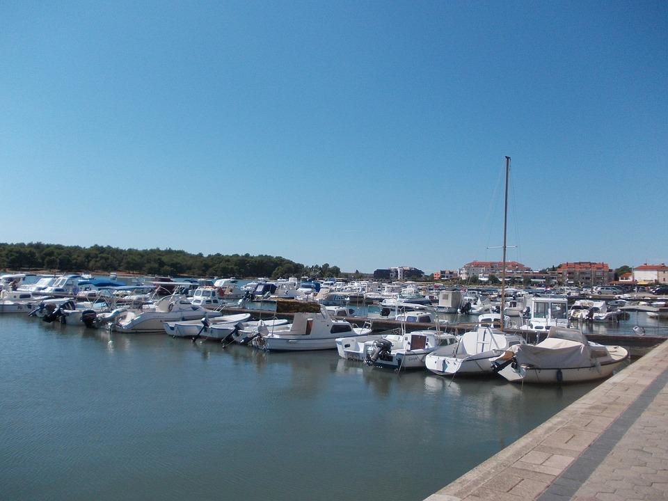 Sea, Boats, Port, Beach, Croatia, Water, Powerboat