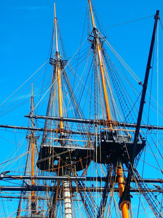 Sailboat, Mast, Ship, Rope, Boat, France, Boats