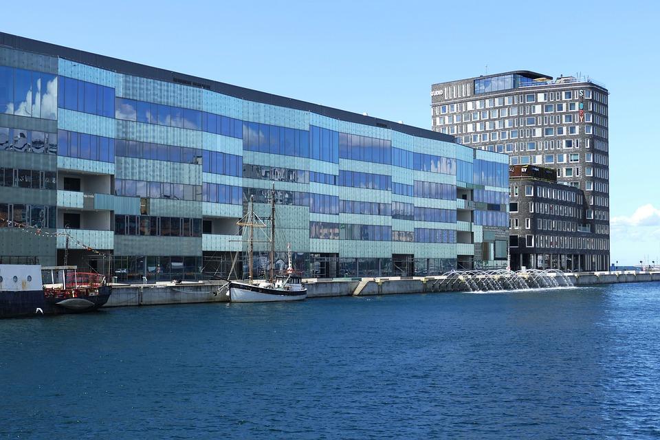 Building, Facade, Boats, Architecture, Glass Windows