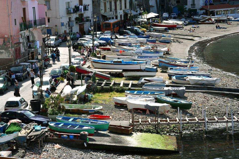 Port, Fischer, Italy, Sorrento, Boats, Old