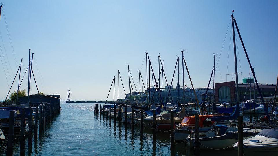 Port, Lake Constance, Friedrichshafen, Water, Boats