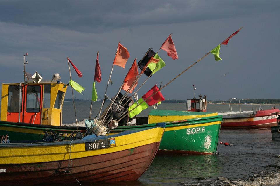 Baltic Sea Coast, Poland, Sopot, Boats