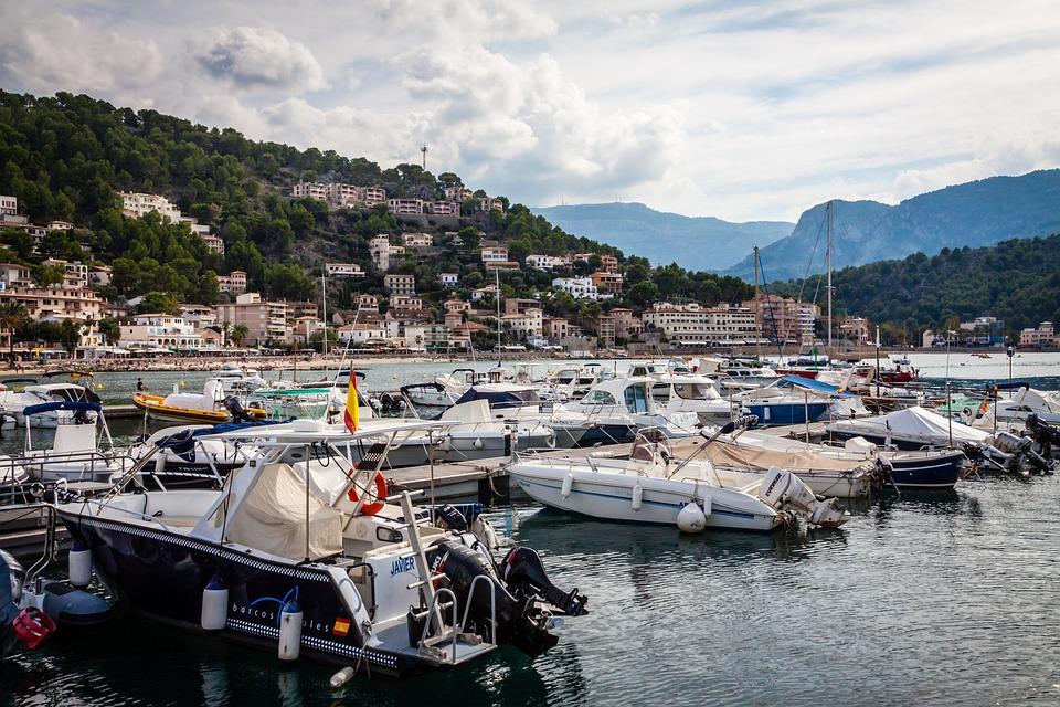 Sóller, Port, De, Mallorca, Sea, Coast, Spain, Boats