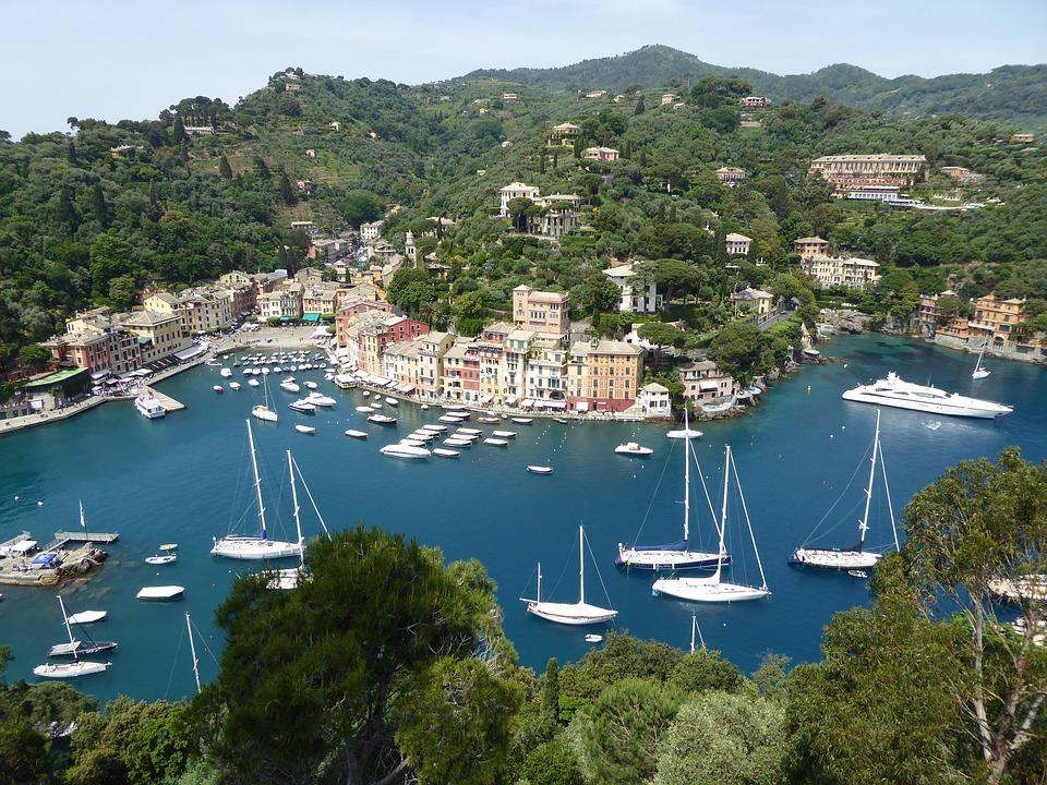 Portofino, Booked, Sea, Boats, Port