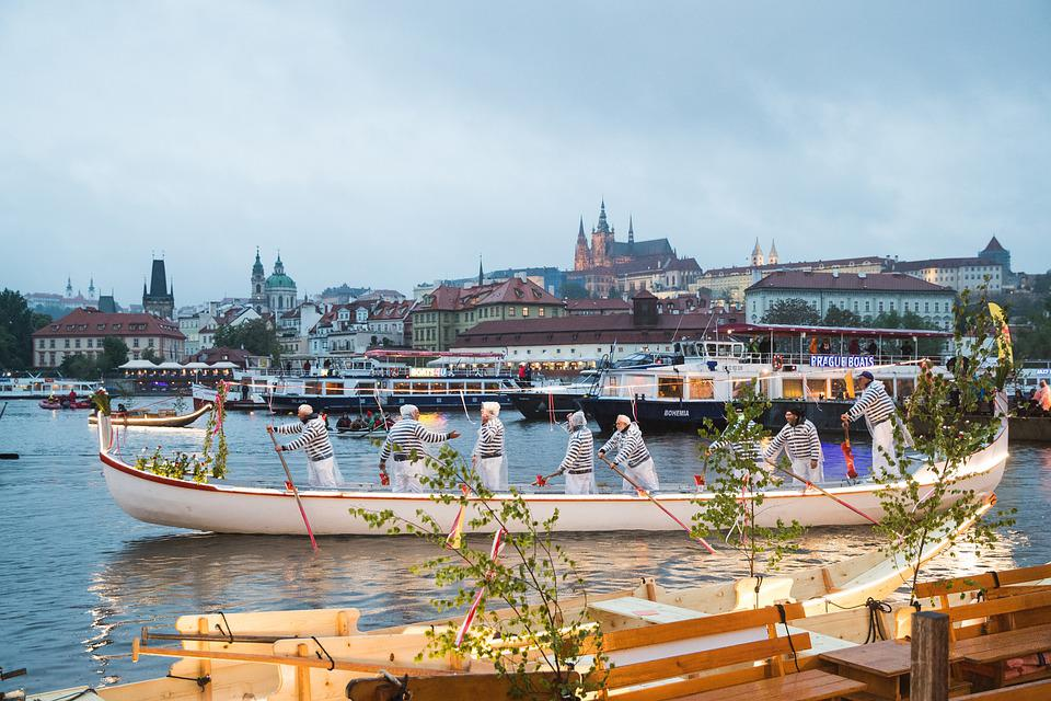 Prague, Festival, River, Rowing, Boats, Boat Festival