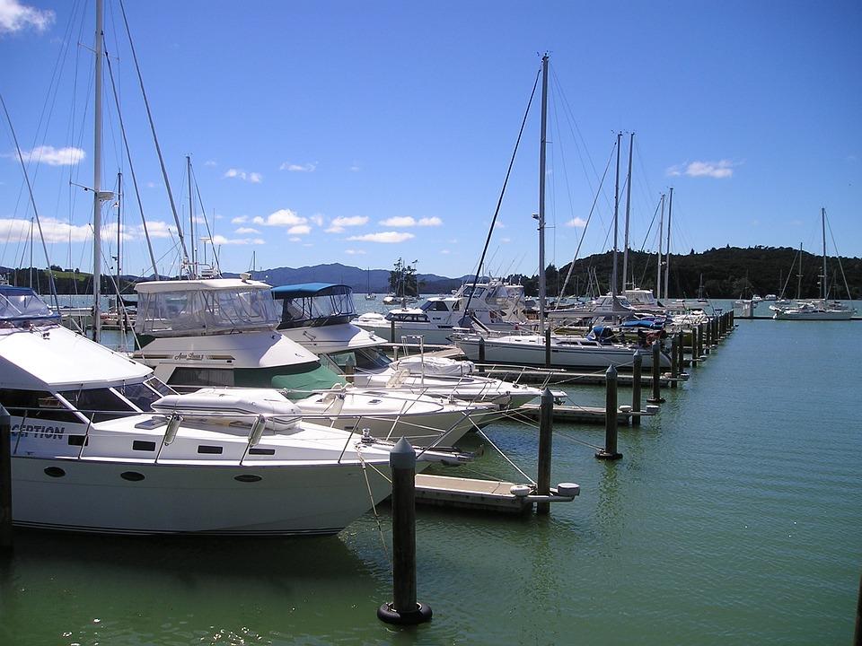 New Zealand, Port, Sea, Boats