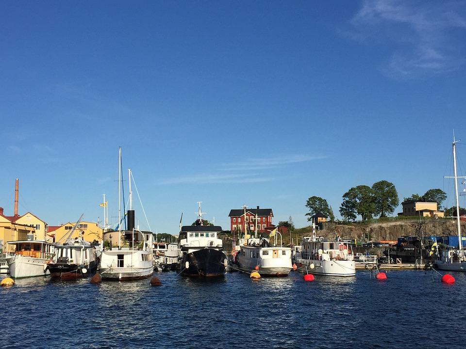Stockholm, Sea, Boats, Water, Summer, Island
