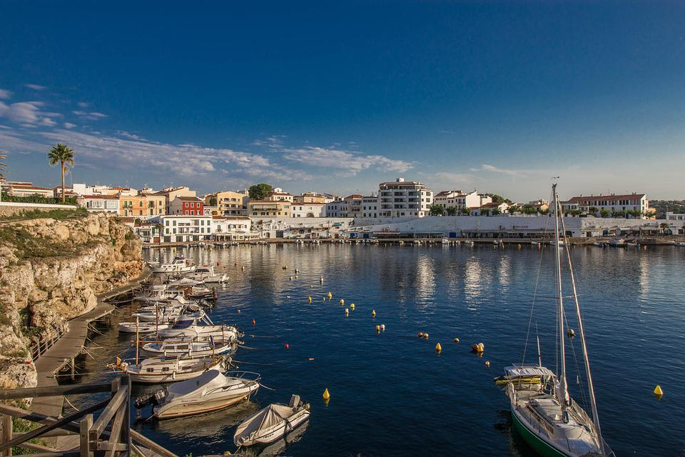 Minorca, Landscapes, Spain, Water, Nature, Port, Boats