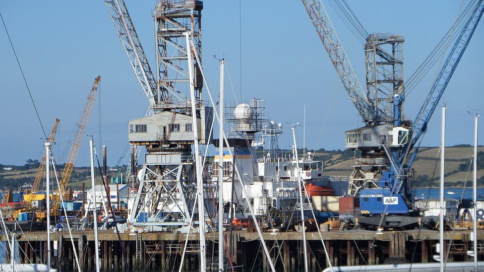 Harbor, Boats, Sea, Water, Travel, Ship, Vessel, Crane