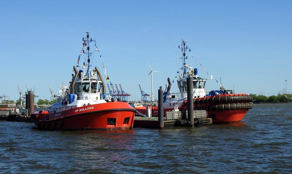 Tug, Boats, Port, Tug Boat, Elbe, Hamburg