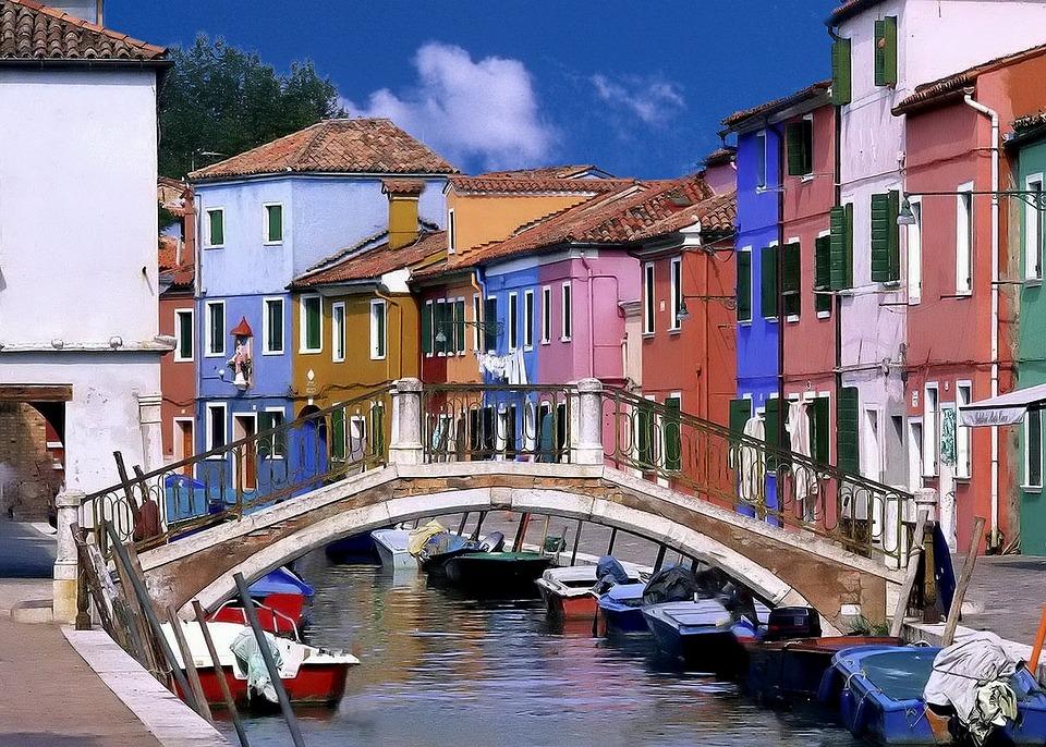 Venice, Canal, Bridge, Boats, Houses, Italy, Water