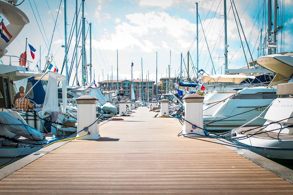 Port, Boats, Water, Sailing