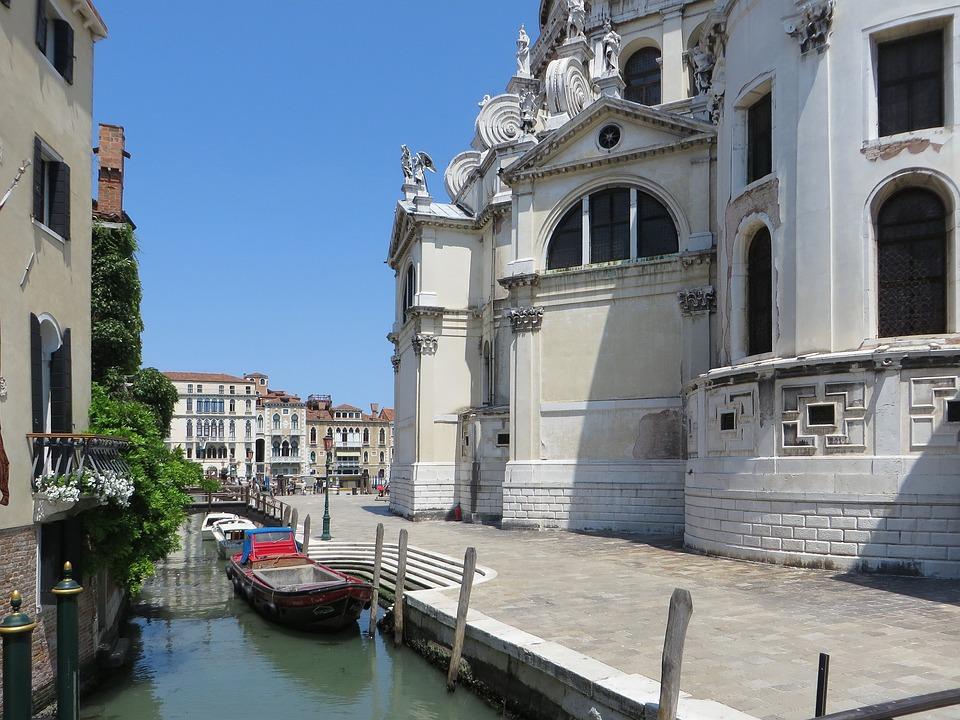 Italy, Venice, Rio, Wharf, The Salute, Boats, City