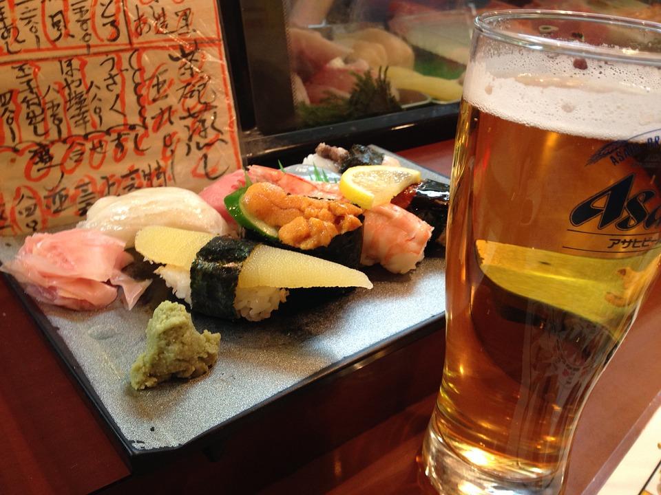 Sushi, Beer, Japanese, Bob, Fish