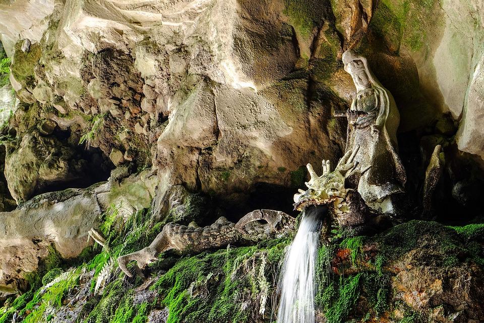 Bodhisattva, Water, Dragon, Japan, Waterfall