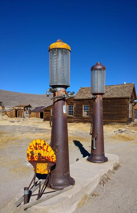 Old Gas Station, Ghost Town, Usa, Bodie, Old, Wild West