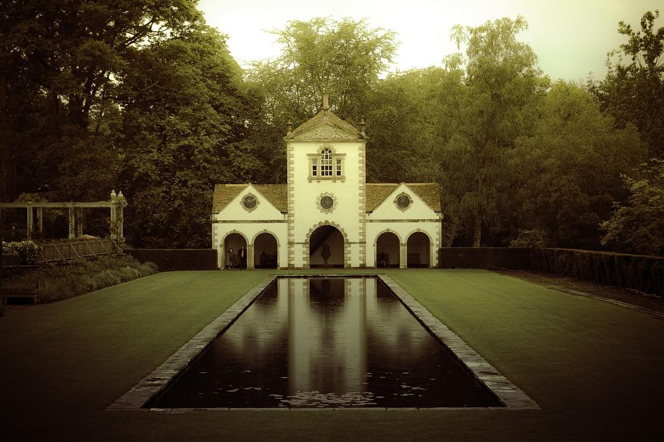 Bodnant Garden, Needle Mill, Reflections