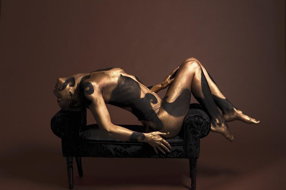 Body Painting, Model, Body, Female, Studio, Paint