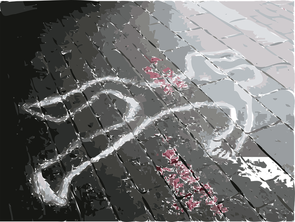 Crime Scene, Dead, Marks, Person, Body, Murder, Chalk