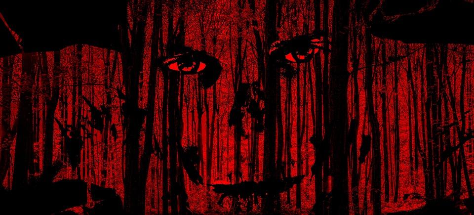 Halloween, Face, Horror, Forest, Trees, Body, Bone
