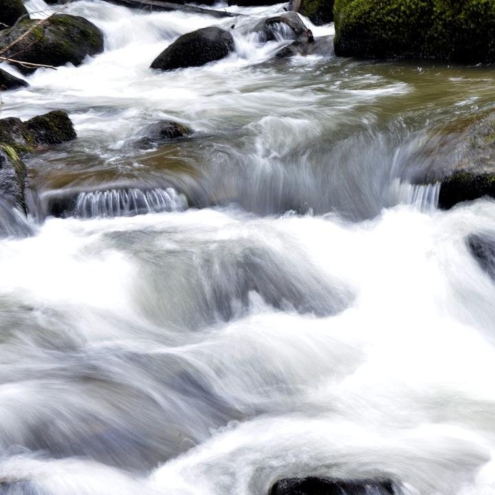 Body Of Water, Cascade, River, Blur, Roche, Landscape