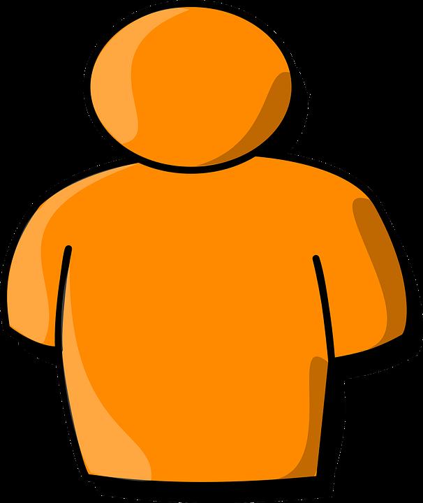 Body, Upper, Chest, Shoulders, Orange, Man, Person