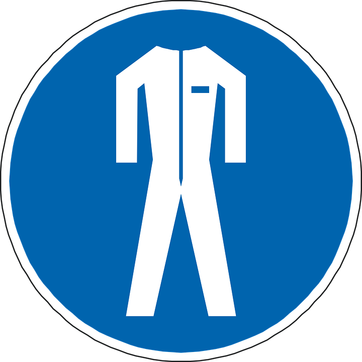 Body Protection, Suit, Blue, Sign, Symbol, Icon