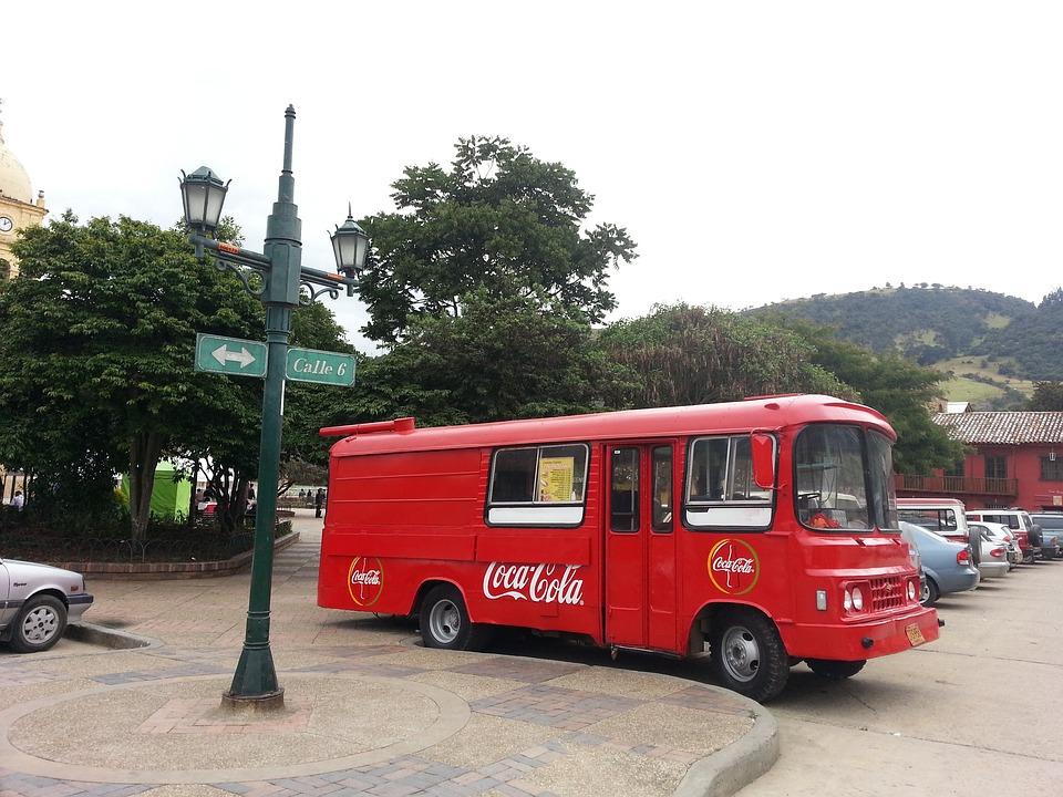 Bogotá, Colombia, Bus, Coca Cola