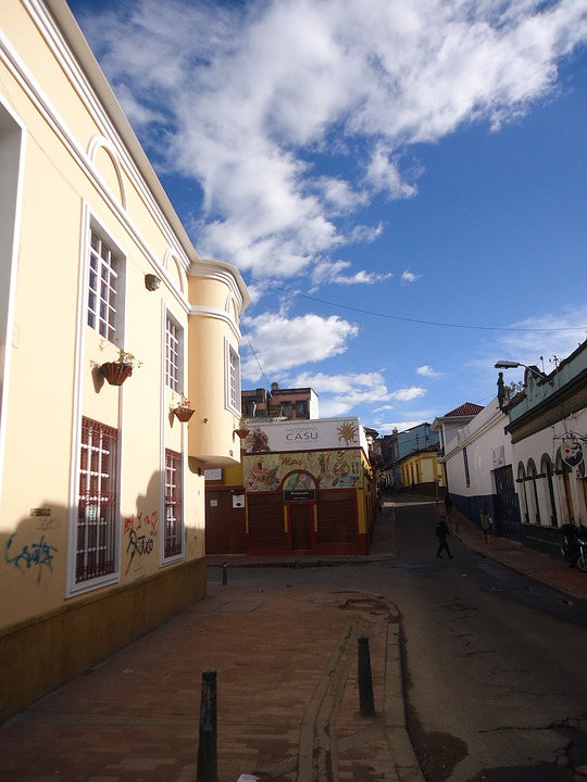 Bogota, Sunset, City, Street, City Centre