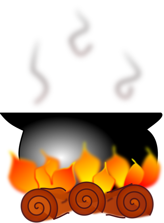 Fire, Flame, Pot, Burn, Boil, Stew, Cooking, Burning