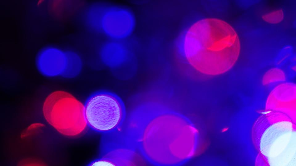 Lights, Bokeh, Blue, Purple, Led, Bright, Red, Blur