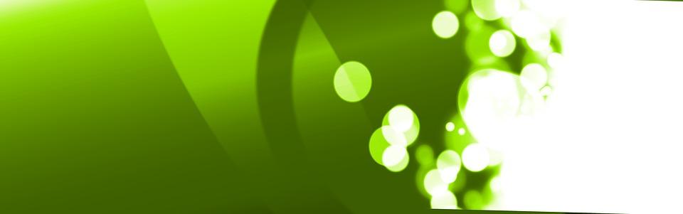 Banner, Header, Logo Header, Green, Bokeh, Circle