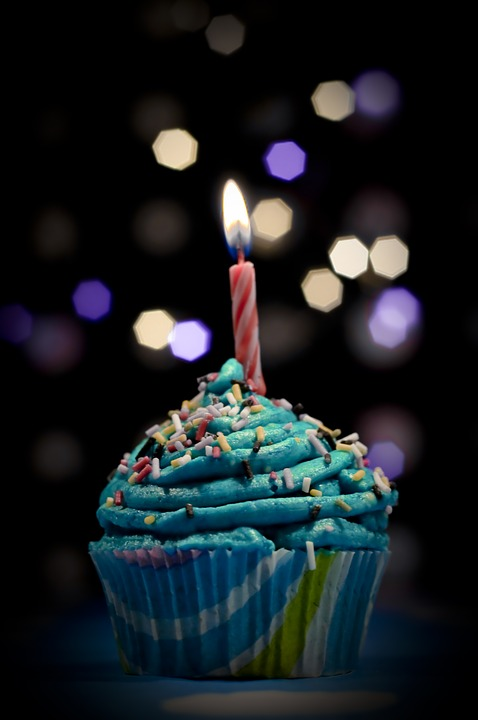 Bokeh, Cupcake, Birthday