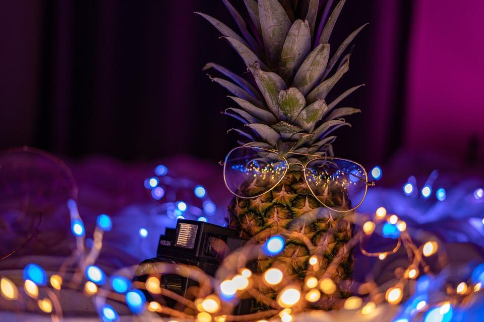 Free photo Bokeh Neon Fairy Lights Pineapple String Lights ...